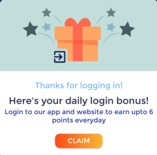 cashngifts daily login bonus