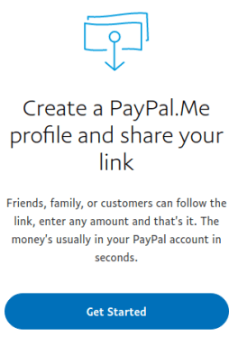 paypalme get started