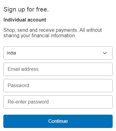 individual paypal account