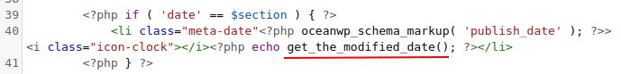 modified date code