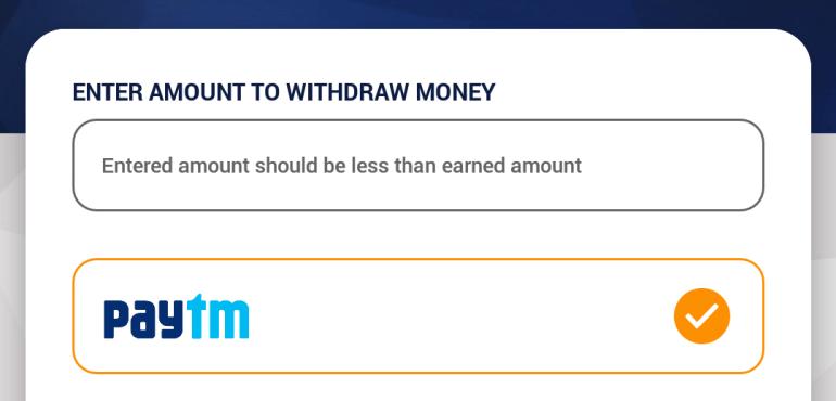 paytm withdrawal fantasy cricket apps