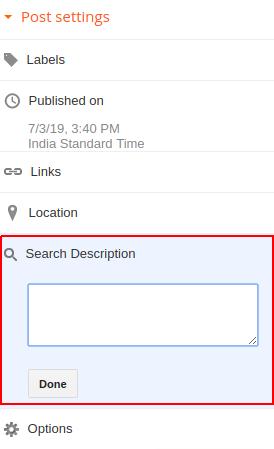 blogspot search description