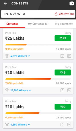 dream11 contests