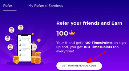 get your referral code