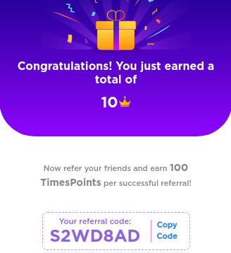timespoints referral code