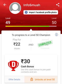 dream11 loyalty cash bonus