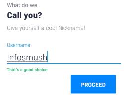 enter nickname