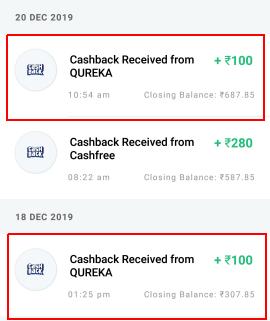 qureka payment proof
