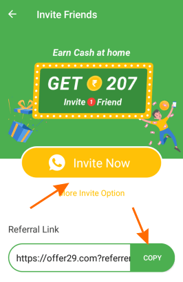 offer 29 refer and earn
