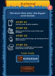 pocket ludo refer code