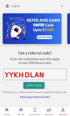 reward pe referral code