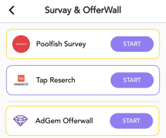 surveys and offerwall