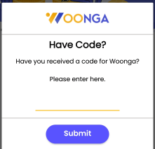woonga referral code