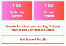 add account details