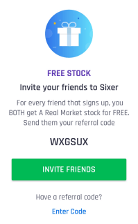 sixer referral code