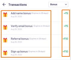playship bonus transactions