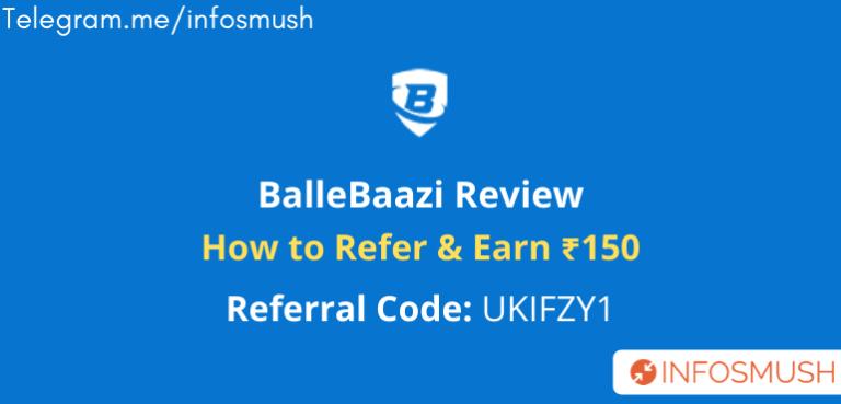 BalleBaazi Referral Code   Refer & Earn ₹50 Real + ₹100 Bonus Cash