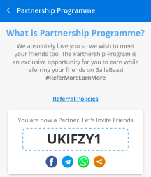 ballebaazi referral code