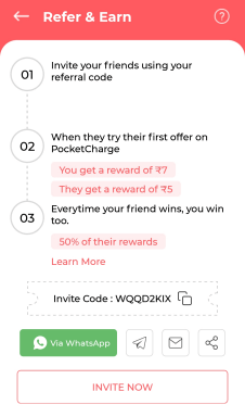 pocket charge referral code