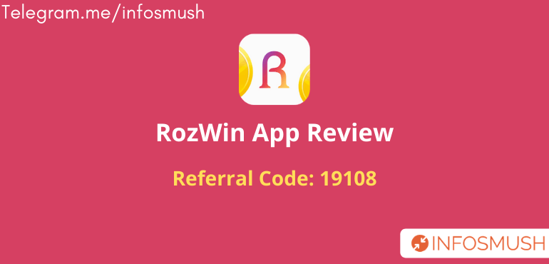 RozWin Refer Code | Download Apk | Review [Proof Added]