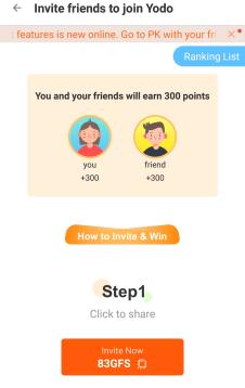yodo invite code