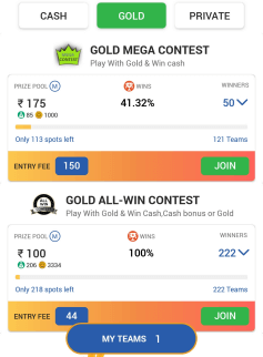 gold contests
