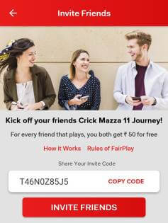 Crickmazza11 referral code