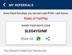 cricwars invite code
