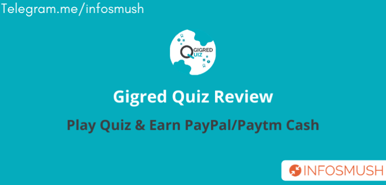 Gigred Quiz Referral Code | Get 5000 Bonus Points | Apk Download