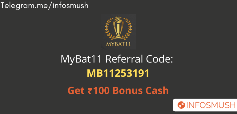 MyBat11 Referral Code | Get ₹100 Bonus | Download Apk