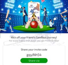 gamtoss referral code