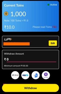 withdraw earnings