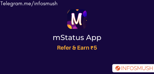 mStatus Referral Code | Apk Download | ₹5/Refer