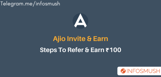 Ajio Invite Code: ₹100 Sign up | Refer & Earn ₹100