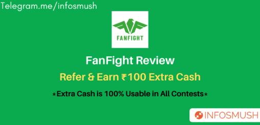 FanFight Referral Code 2021 | ₹100 Sign Up(100% Bonus Usage)
