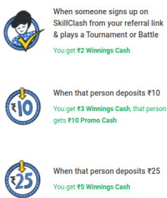 skill clash referral program