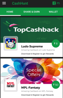 cashhunt referral code bonus