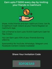 cash hunt referral code