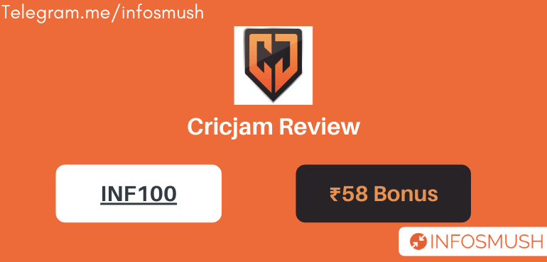 Cricjam Referral Code: Get ₹58 Bonus + 35 Coins