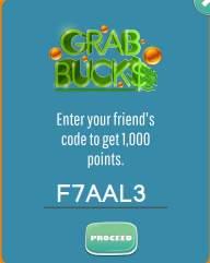 grab bucks referral code