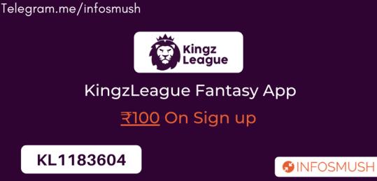 KingzLeague Invite Code: ₹100 Cash Bonus | Apk Download