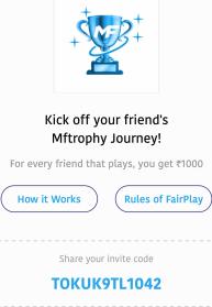 mf trophy referral code