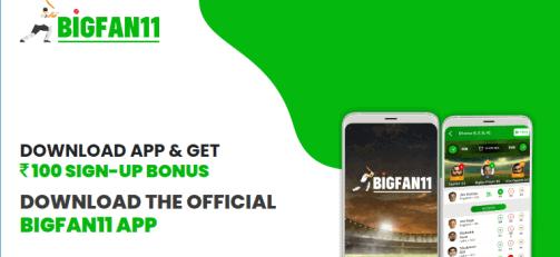 BigFan11 Referral Code | Apk Download | ₹100 Bonus