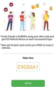 kubera fantasy refer and earn