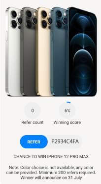 refer and iphone