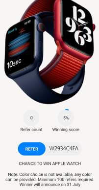 refer and apple watch
