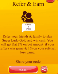 super ludo gold refer and earn