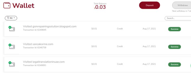 trafficbuc.com wallet