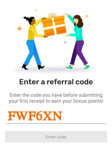 fetch referral code