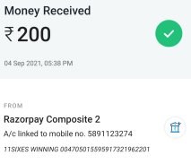 2nd payment proof